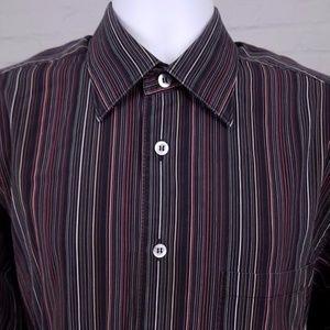 ERMENEGILDO ZEGNA Mens Long Sleeve 100%cotton Sz L